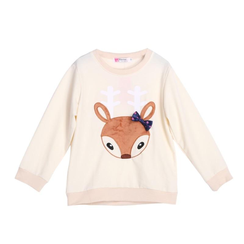 Boys Girls Autumn Warm Shirt Toddler Baby Kids Long Sleeve Crewneck Fox Pocket T-shrit 1-6 Y