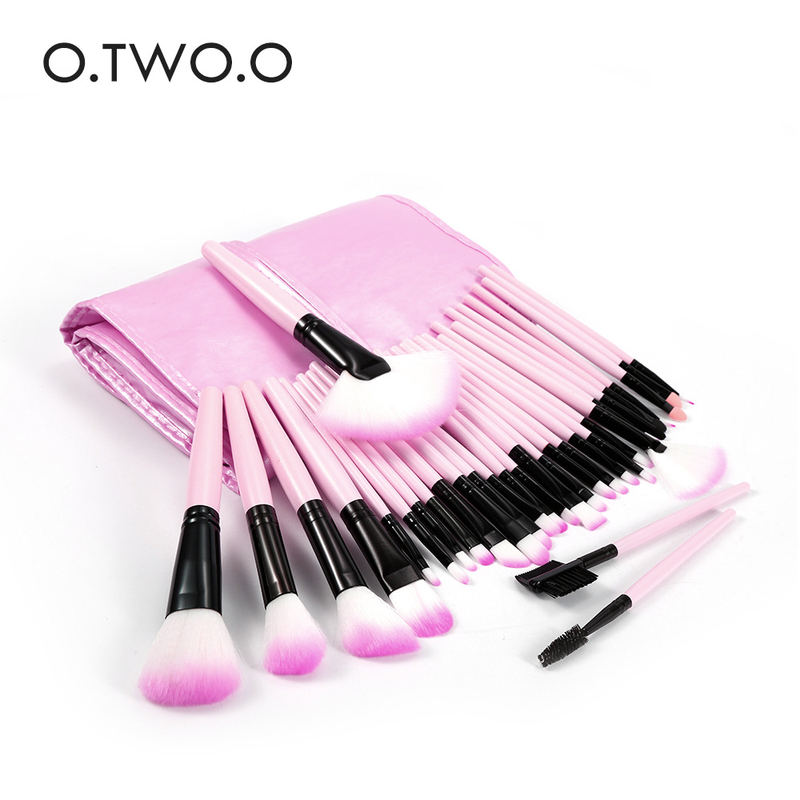O. ZWEI. O <font><b>32</b></font> <font><b>Pcs</b></font> Make-Up Pinsel <font><b>Set</b></font> mit Tasche Gesicht Augen Lippen Make-Up Pinsel Professional Beauty Kosmetik Pinsel Make-Up-Tools 9968 image