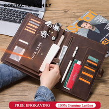 Vintage Distressed Leather Portfolio For iPad Pro 10.5 Air 3 11 inch Case With Phone Pocket Earphone Pouch Passport Hasp Holder все цены
