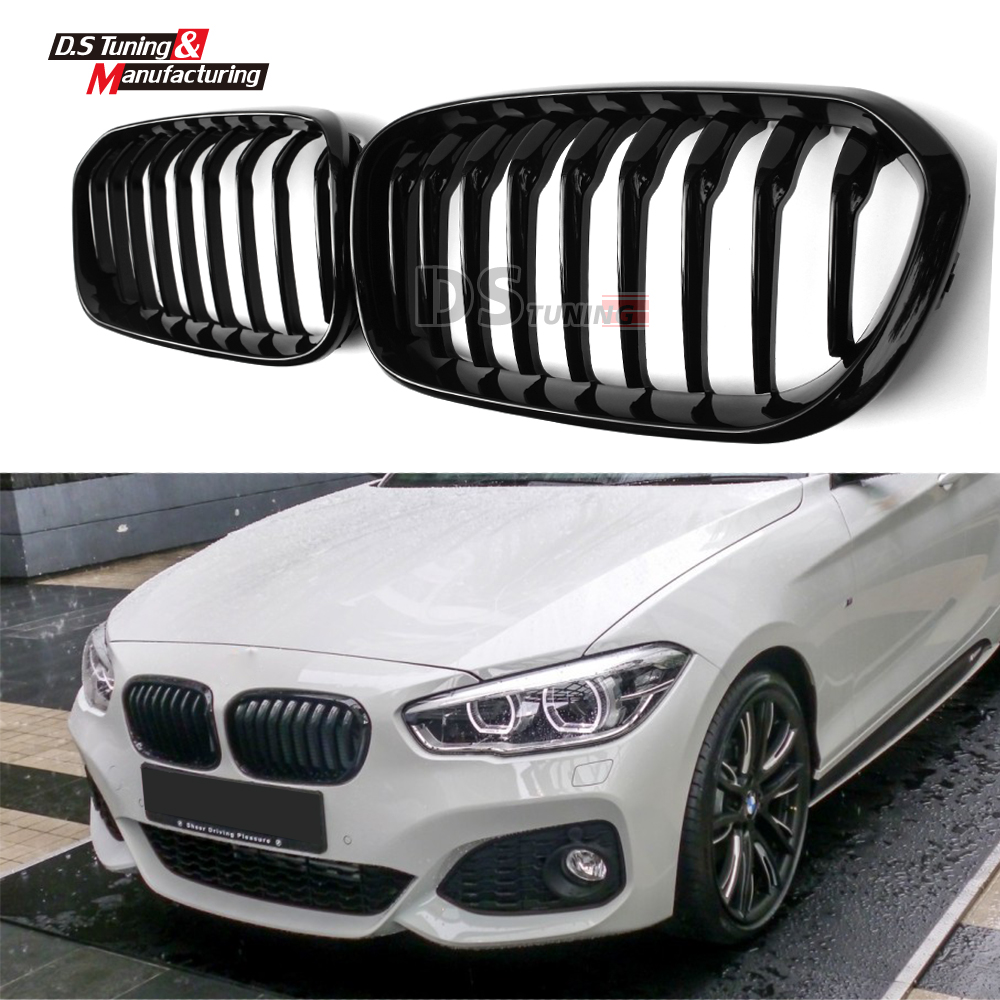 1-slat gloss / matte black front grill grille mesh for bmw 1 series f20 5-door hatchback f21 2015 2016 118i конвектор стн нэб м нст 0 5 black gloss