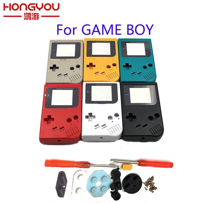 Para o jogo menino clássico jogo substituição caso de plástico escudo capa para nintendo gb console habitação para gb caso