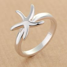 Pure Silver 925 Rings for Women Sea Star Wedding Ring Bague Femme Bridal Jewelry Accessories Anel Anillo Birthday Gifts Bijoux(China)