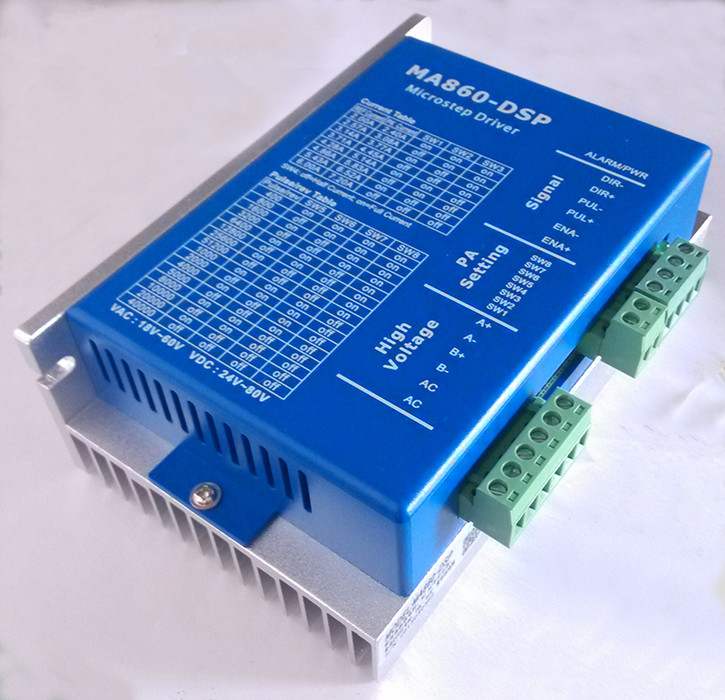2-phase Stepper Driver MA860-DSP 24V-80VDC or VAC16-70VAC output 6A NEMA 34 Replace of MA860 / M860 / DM860 Drive Motor