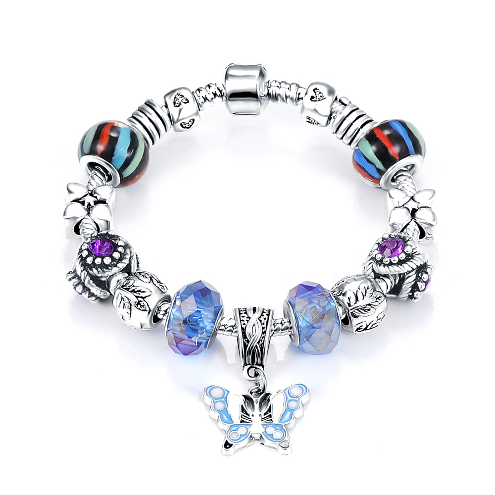 Aliexpress : Buy 2016 Neew Design Jewelry Woman Charm Bead Bracelet  Teen Girl Handmade European Bracelet With Butterfly Pendant Jewelry  Pcbr0013 From