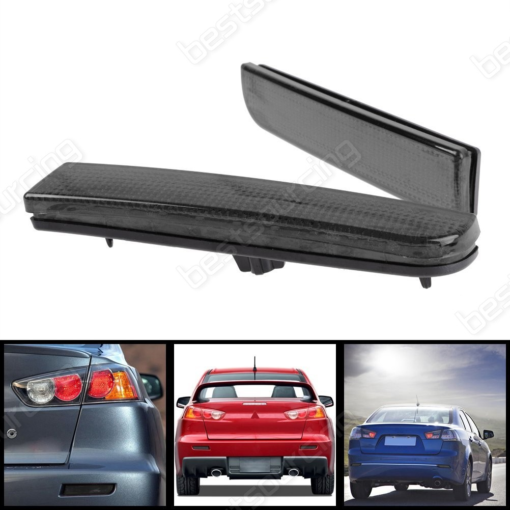 ANGRONG 2x <font><b>LED</b></font> Rear Bumper Reflector Light For <font><b>Mitsubishi</b></font> <font><b>Lancer</b></font> Evolution Evo <font><b>X</b></font> CZ4A ASX RVR image