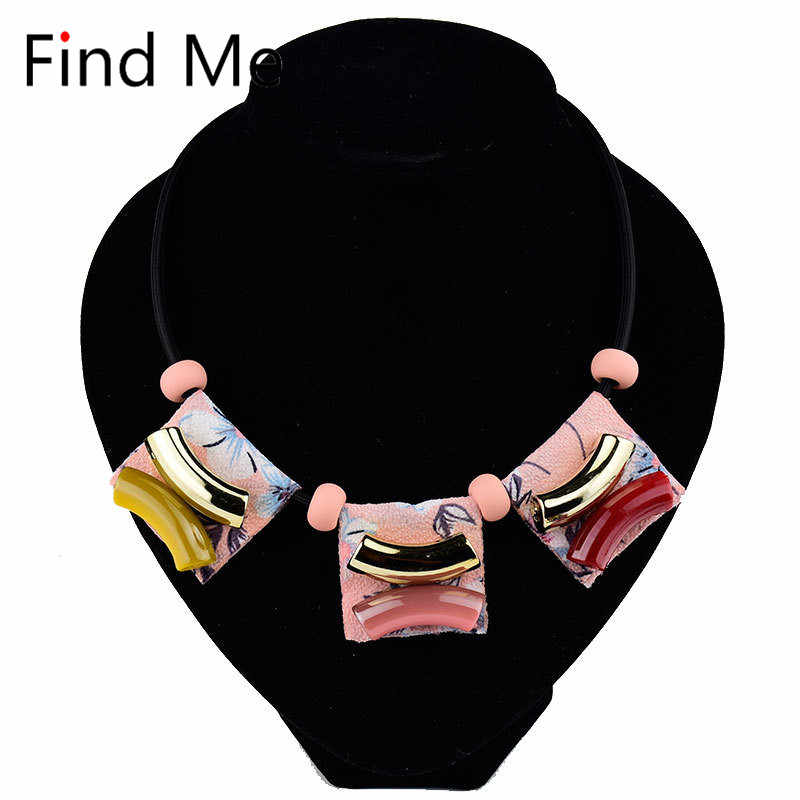 Find Me 2019 new Fashion Long tassels collar Choker Necklace Pendants Vintage Boho acrylic Maxi statement Necklace Women Jewelry