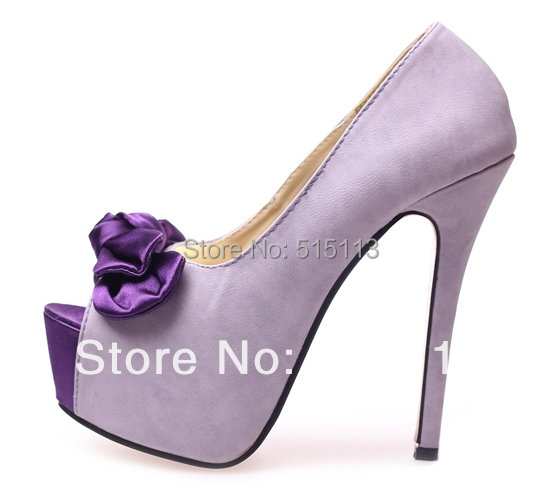 Aliexpress.com : Buy Elegant 2015 Sexy Pink Light Purple Peep Toe ...