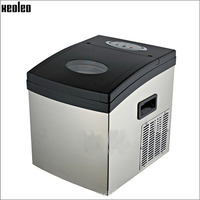 Xeoleo 15kg/24h Ice maker Cube ice machine1kg storage Stainless steel 1.5L water box 24 ice grid 22*22*22mm Coffee shop/Bar use