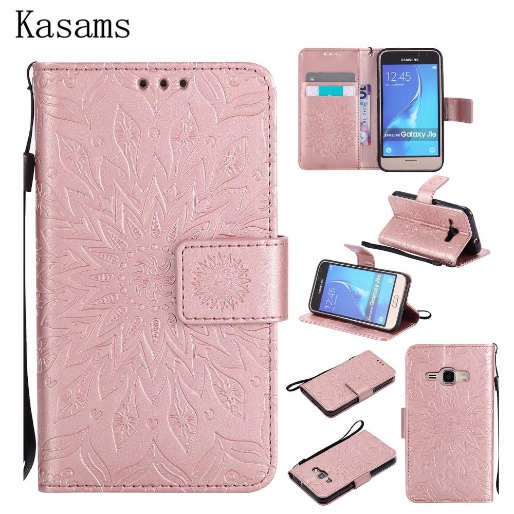 3d Zonnebloem Fundas Voor Samsung J1 2016 J120 Telefoon Case Voor Samsung J3 2016 J310 J3 2015 J300 Flip Boek Cover Pu Leather Shell Goederen Van Hoge Kwaliteit
