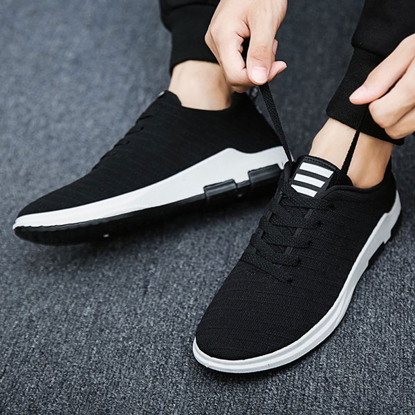 Men Shoes 2018 Summer Sneakers Breathable Non-slip Casual Shoes Lace Up High Quality for Men Mesh Shoes formal mesh lace panel sheer slip babydoll