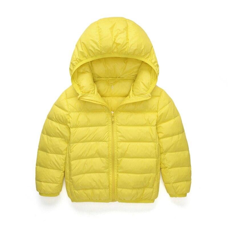 2 13Y Brand Ultra light baby Girls boys down jacket Real 90 duck down coat winter