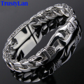TrustyLan Fashion New Stainless Steel Charm Bracelet Men Vintage Totem Mens Bracelets 2017 Cool Male Jewelry Wristband Jewellery