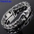 Trustylan charme pulseira de aço inoxidável de moda de nova homens do vintage totem mens pulseiras 2017 frio do sexo masculino jóias pulseira jóias