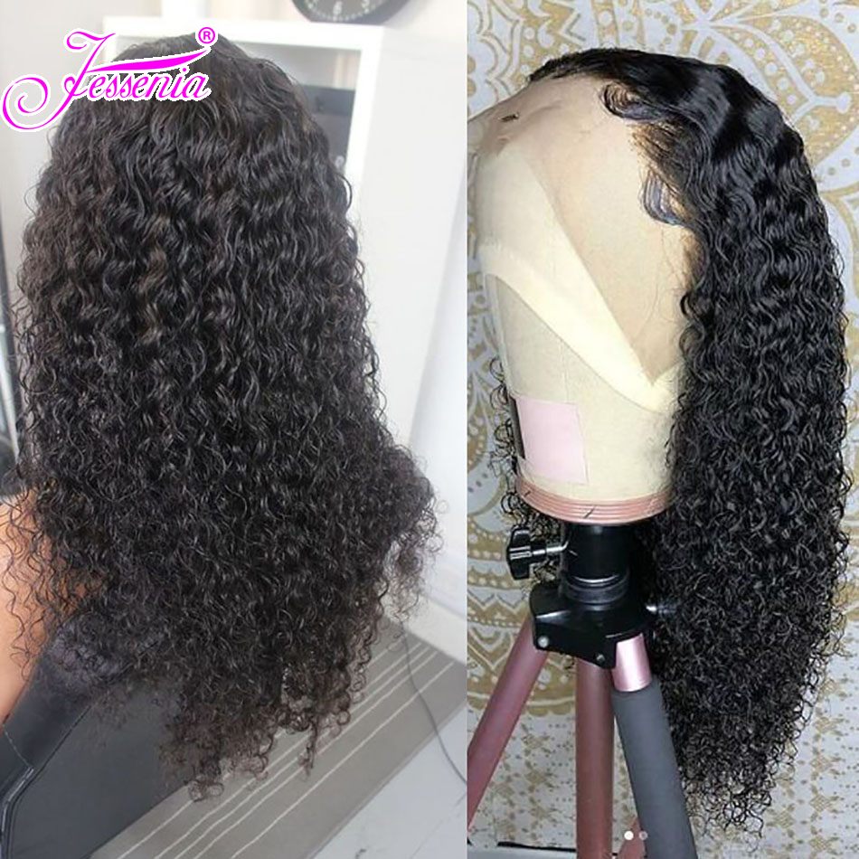 Lace Front Wigs Brazilian Curly Human Hair Wigs Pre Plucked Hairline With Baby Hair Remy Hair 13 4 Lace Frontal Wigs in Lace Front Wigs from Hair Extensions Wigs