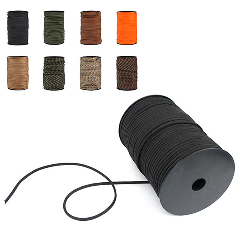 Image 2 - 100M 550 Type Parachute Cord Paracord Lanyard Rope 9 Strand Cores Rescue Tent Hiking Rope Roll-in Paracord from Sports & Entertainment