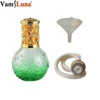 Lâmpada da Fragrância 100 ml de Óleo Essencial Frasco de Vidro com a queima de Incenso pavio catalítico & Funel para Aromatherap-Aroma de Cana difusa