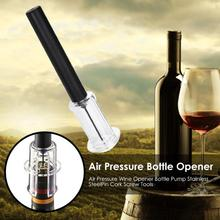 Air Pressure Red Wine Opener Bottle Pumps Stainless Steel Easy to Clean Pin Type Corkscrew Tool Practical Tools Bottle Opener stainless steel thickened red wine bottle opener corkscrew red silver