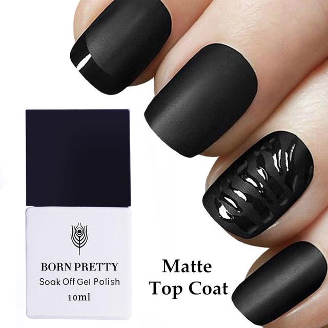 BORN PRETTY No Wipe Matte Top Coat Soak Off Gel Polish Varnish Gel Polish Lacquer Manicure Nail Art Tools 1 Bottle 10ml