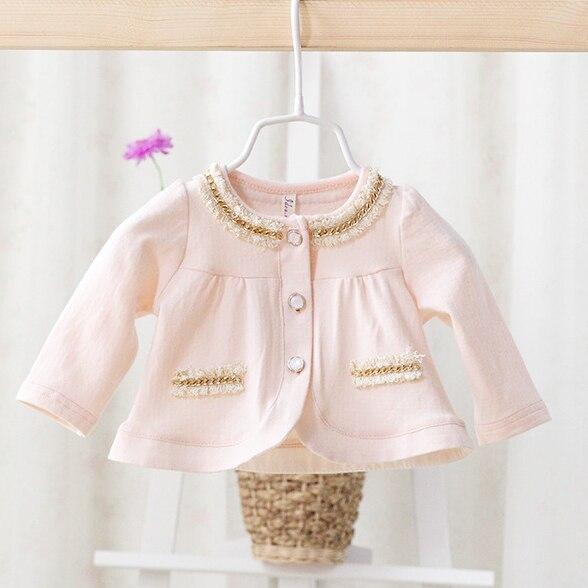 2017 весной и осенью новые модели женского пола ребенка хлопка куртка детская clothing kids fashion cute довольно шаль пальто