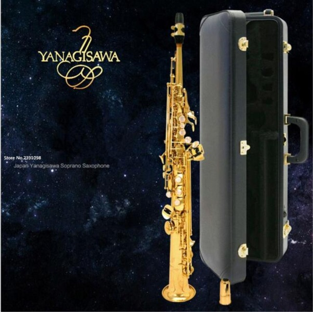 YANAGISAWA S901 Gold straight Gold saxophone soprano B sax Gold Lacquer soprano saxophone anime figure alphamax shining blade allina pvc action figure collectible model toys doll 24cm