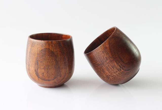 Free shipping new 2014 Chinese style fashion wooden cup exported to Korea 3pcs or more wholesale price B002