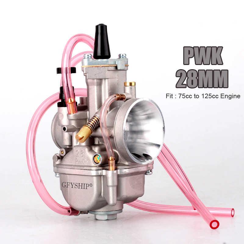 Universal 28 Mm 30 Mm 32 Mm 34 Mm 2T 4T Pwk Motor Karburator Carburador untuk Mikuni Satria Fu untuk ATV Suzuki Yamaha Honda Power Jet