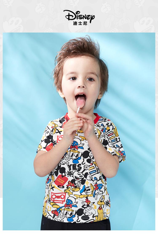 HTB1g9nZKFzqK1RjSZSgq6ApAVXaR - Disney children's clothes boys T-shIrt dress knitted Short-sleeve tshirt 2019 Summer Mickey fashion pure cotton camiseta t shirt