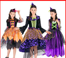2017 new Halloween children's clothing witch cosplay costume girl witch little witch costume