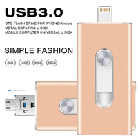 USB Flash Drive 3 0 OTG For Iphone 5 5s 5c 6 6 Plus 7 Ipad