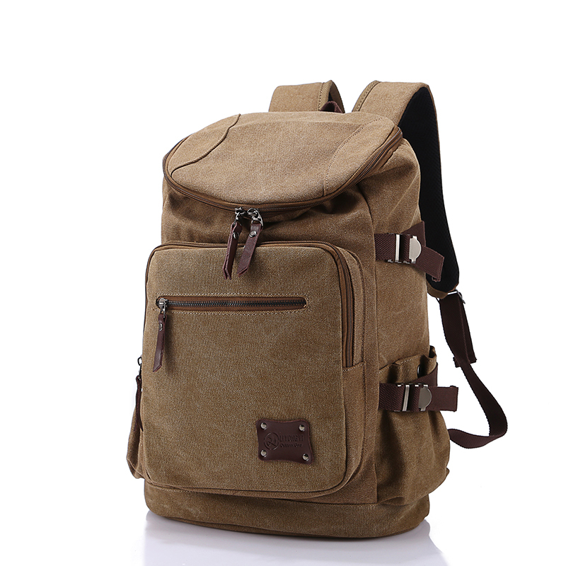 Men Backpack Zipper Solid Travel Bags
