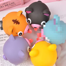 ZNNL046-1 Tongue Tongue Animal Squeeze Gag Utility Funny Tiger Pig Dog Model Anti-stress Toy Children Birthday Gift Anti-stress(China)