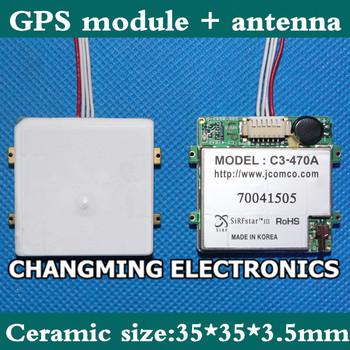 JCOM Korea C3-470a GPS moduł integracji anteny TTL GMOUSE SiRF3 35mm wysoka wytrzymałość ceramiczny (pracy 100 darmowa wysyłka) 1 sztuk tanie i dobre opinie NoEnName_Null C3-470A GPS module antenna