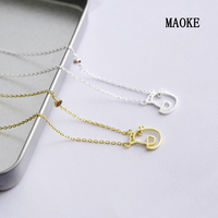 Zodiac Chicken 925 Silver Clavicle Chain Gold and Silver for Women's Fashion Gifts