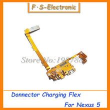 Free shipping For LG google nexus 5 D820 D821  Mic Microphone USB Charger Charging port for nexus5 dock connector flex cable