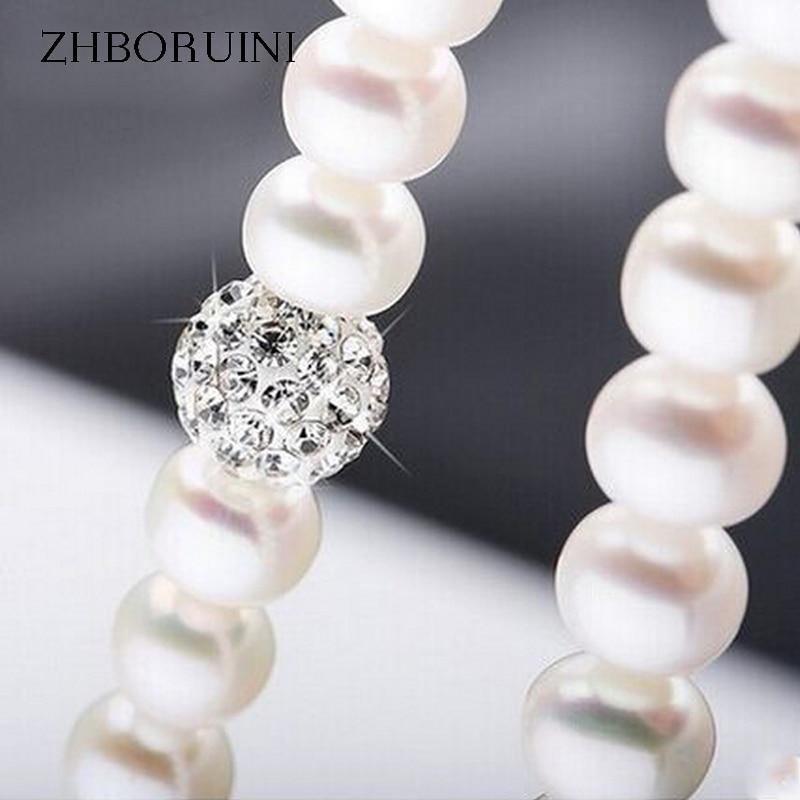 ZHBORUINI 2019 Pearl ყელსაბამი 925 - ლამაზი სამკაულები - ფოტო 2