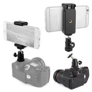 """Image 5 - Mini Bóng Đầu 1/4 """"Gắn Với Khóa Hot Shot Adapter Có Giá Đỡ Điện Thoại Kẹp Cho Máy Ảnh Đèn LED Flash giá Đỡ Gắn"""