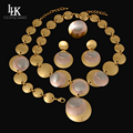 High Quality Charm 24K Silver Rose Gold Plated Jewelry Set Fashion Three Color Dubai African Jewelry Set Bijoux Plaque Or Parure