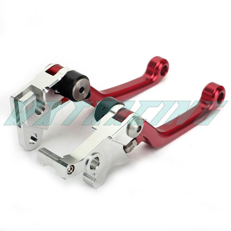 Pivot CNC Brake Clutch Levers For HONDA XR 250 MOTARD 1995-2007 XR400 2005-2008 CRM 250 1994-1998 RED cnc dirt bike flex pivot brake clutch levers for honda crm250r ar xr250 400 motard