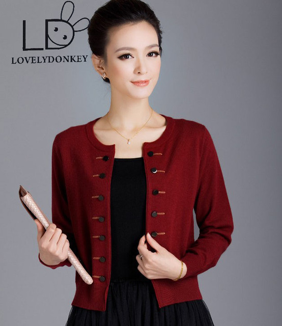 LOVELYDONKEYHot sale 2016 new pure cashmere Cardigan women short ...