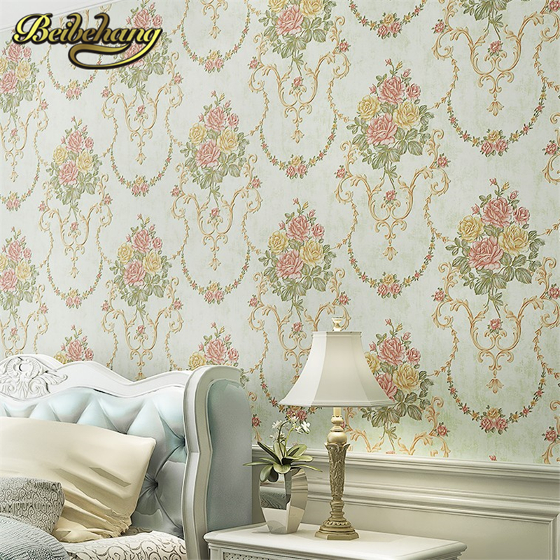 beibehang European Luxury Damascus Papel De Parede 3D Wallpaper for Living Room Background Wall Paper Home Decor contact paper beibehang luxury leather papel de parede 3d wall paper modern vintage wallpaper for wall 3d living room wall covering decor