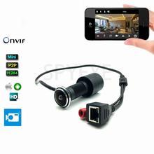 Дверь отверстия глаз Главная безопасности 1080P HD H.264 1,78 мм объектив Широкий формат рыбий глаз видеонаблюдения Сеть мини глазок двери IP Камера P2P Onvif