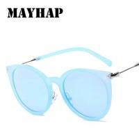 MAYHAP 2018 Round Sunglasses Polarized Men Mirror UV400 Retro Women Sun Glasses Small Arrow Eyewear Luxury