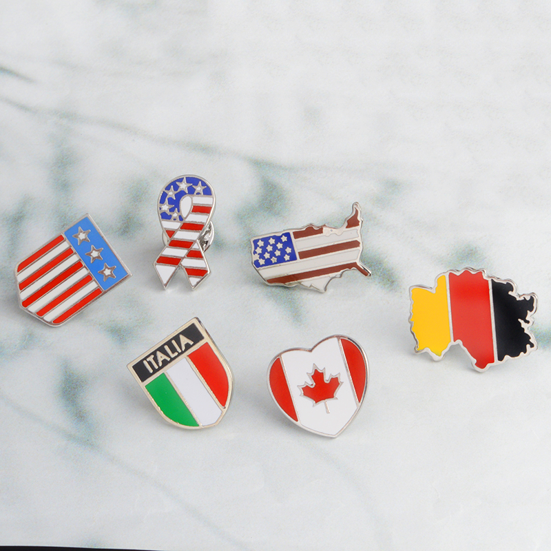 Badges Humor Canada Friendship Flag Badge Lapel Pin Pin 5pcs Arts,crafts & Sewing