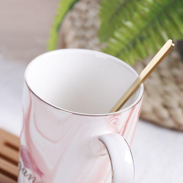 Tasse et tasse de Couple Mr Mrs Flamingo | Tasse à café en céramique, motif marbre, verres de maison, cadeau pour amoureux, cadeau de mariage