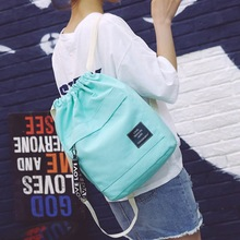 Women Canvas Bags Casual Zipper Backpacks Candy Color Sweet School Bags For Girl Shopping Bags
