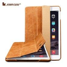 Jisoncase Винтаж Кожа Для iPad Mini 1 2 3 Case складной фолио Смарт пробуждения Сна Luxury Brand Обложка