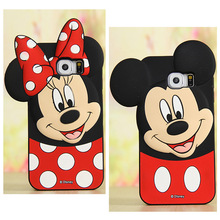 цена на New 3D Cartoon Minnie Mickey Silicone Back Cover Shell For Samsung Galaxy S3 S4 S5 S6 S7 Edge/Note 3 4 5/E5 E7/A8/J2 Phone Cases