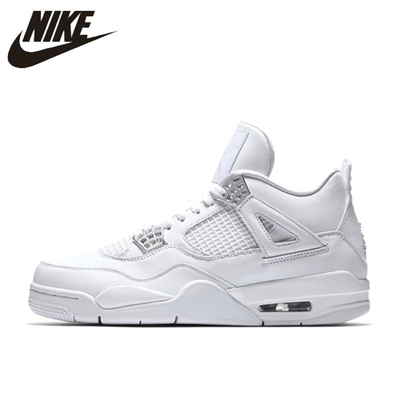 Nike Air Jordan 4 Laser Aj4 Atmungs Männer Neue Ankunft Authentische Basketball Schuhe Sport Turnschuhe 308497-100 Eleganter Auftritt Basketball-schuhe Turnschuhe
