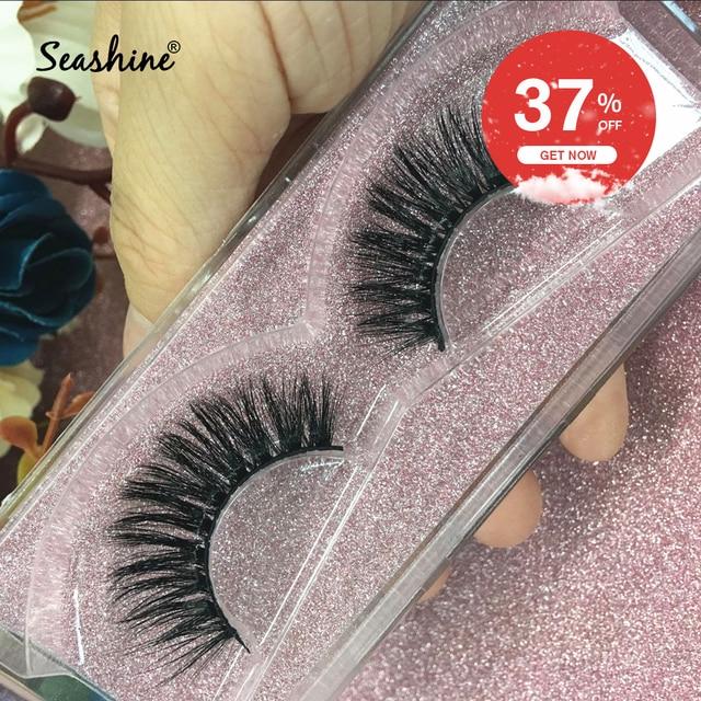 9675943df62 Seashine Luxury Mink Lashes Customize boxes Mink Lash Sexy 100% Handmade 3D Mink  Eyelashes Extension Free Shipping Mix Style