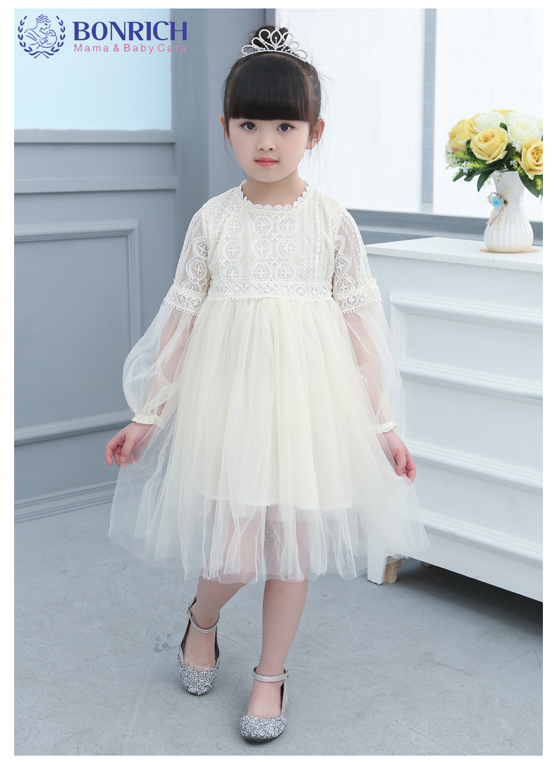 2017 New Flower Girls Party Dress Lace Formal Bridesmaid Wedding Dress Girls Christmas Princess Ball Gown Kids Siz VV1328 kids girls bridesmaid wedding toddler baby girl princess dress sleeveless sequin flower prom party ball gown formal party xd24 c